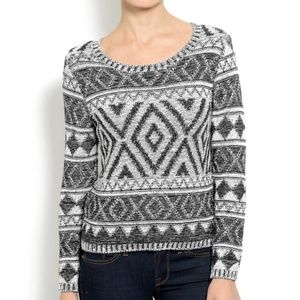 Lucky Brand tribal print sweater size small
